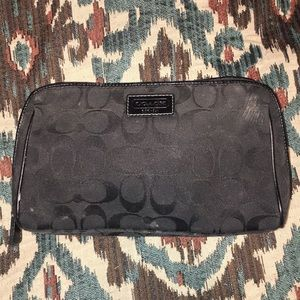 Authentic Black Coach Cosmetic Bag